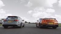 Nissan GT-R срещу Audi RS6 (видео)