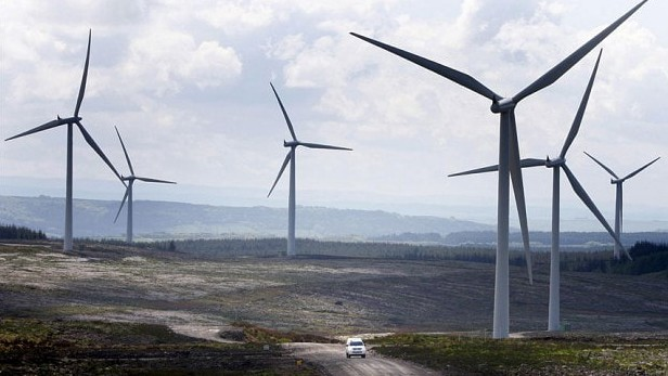Шотландия разполага с множество ветрогенератори